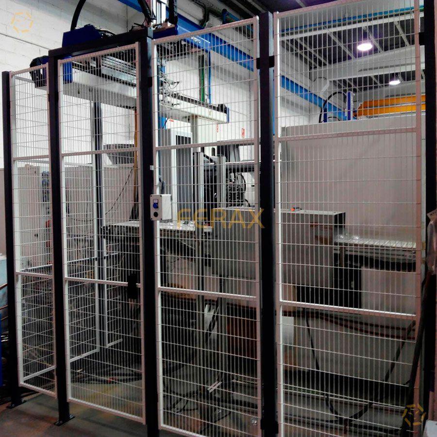 Vallado de protecci n para maquinaria y celdas robotizadas - Vallas de proteccion ...