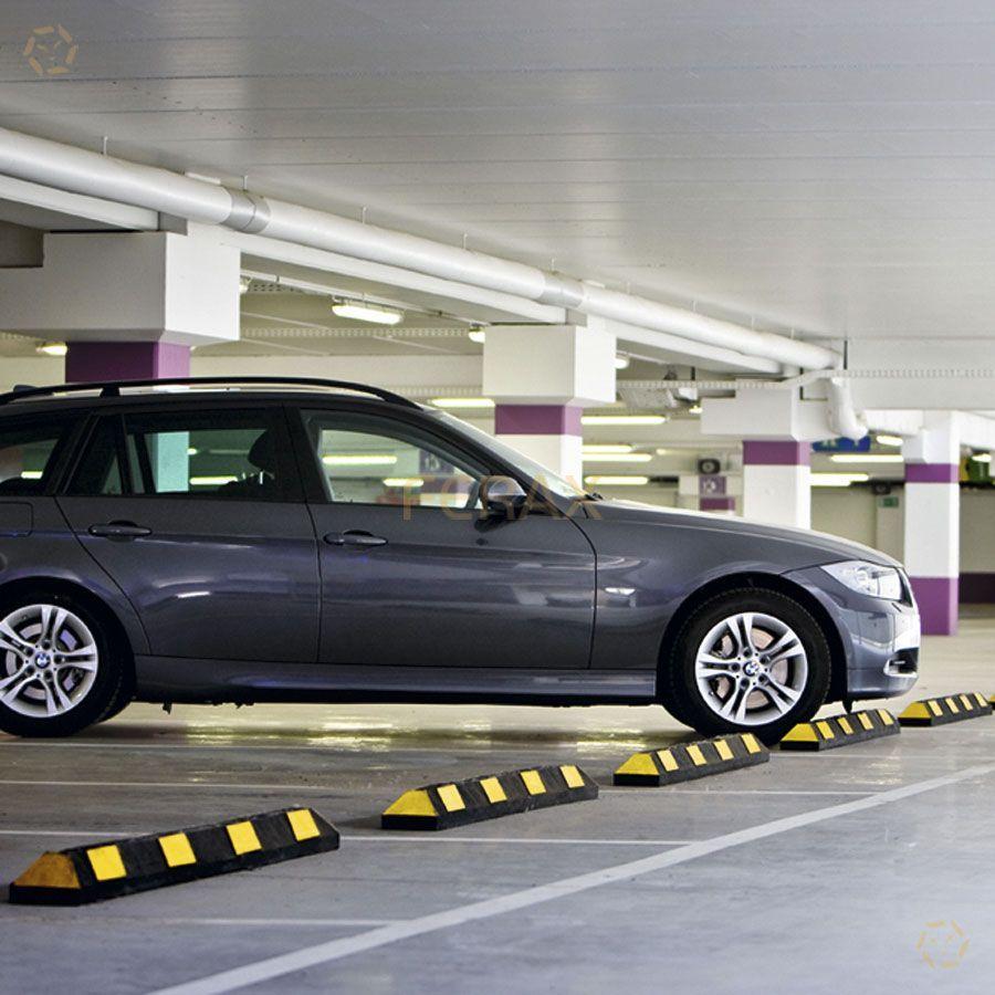 Topes de estacionamiento para ruedas de veh culos for Parking de coches